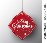 red christmas sale paper tags... | Shutterstock .eps vector #1220174503