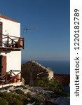 beautiful summer terrace view...   Shutterstock . vector #1220182789
