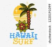 surfing surf themed hawaii hand ...   Shutterstock .eps vector #1220191099