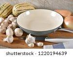 an enamal coated cast iron... | Shutterstock . vector #1220194639