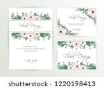banner on flower background.... | Shutterstock .eps vector #1220198413