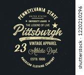 pittsburgh typography. vector... | Shutterstock .eps vector #1220210296