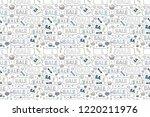 seamless pattern. sale... | Shutterstock . vector #1220211976