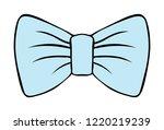 children's illustration of bow... | Shutterstock .eps vector #1220219239
