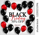 black friday sale poster with...   Shutterstock . vector #1220221396