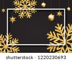 christmas  new year and winter...   Shutterstock . vector #1220230693
