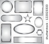 Silver Vector Label Frame Eps 10