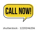 call now speech bubble on white ... | Shutterstock .eps vector #1220246206