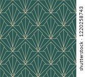 art deco simple pattern...   Shutterstock .eps vector #1220258743