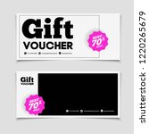 gift voucher for shop or beauty ... | Shutterstock .eps vector #1220265679