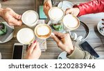 group of friends drinking... | Shutterstock . vector #1220283946