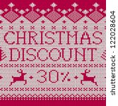 christmas sale  discount 30  ... | Shutterstock .eps vector #122028604