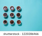 lots of coffee cups with... | Shutterstock . vector #1220286466