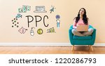 Ppc With Young Woman Using A...