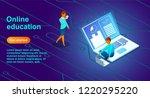 banner for online training... | Shutterstock .eps vector #1220295220