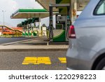 gas station in poland | Shutterstock . vector #1220298223