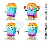 set of cartoon rainbow colors... | Shutterstock .eps vector #1220318149