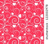 Love Seamless Pattern. White...