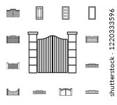 gate icon. detailed set of... | Shutterstock .eps vector #1220333596