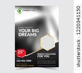 real estate flyer  modern... | Shutterstock .eps vector #1220341150