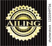 ailing gold badge   Shutterstock .eps vector #1220349736