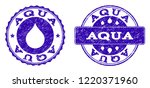 grunge aqua stamp seal imprints.... | Shutterstock .eps vector #1220371960