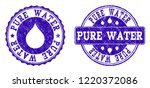 grunge pure water stamp seal... | Shutterstock .eps vector #1220372086