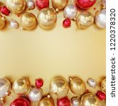 christmas decorations colorful... | Shutterstock . vector #1220378320