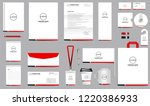 corporate identity set.... | Shutterstock .eps vector #1220386933