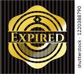 expired golden badge | Shutterstock .eps vector #1220388790