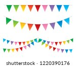 party background with flags ... | Shutterstock .eps vector #1220390176