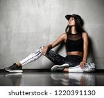 young sporty woman after... | Shutterstock . vector #1220391130