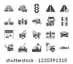 traffic jam icon set. included... | Shutterstock .eps vector #1220391310