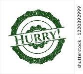 green hurry  rubber grunge stamp   Shutterstock .eps vector #1220392999