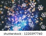 bokeh christmas circular... | Shutterstock . vector #1220397760