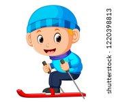 vector illustration of the boy...   Shutterstock .eps vector #1220398813