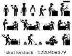 icons for workers  employees ... | Shutterstock . vector #1220406379