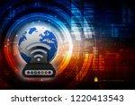 3d rendering transmitter wifi | Shutterstock . vector #1220413543