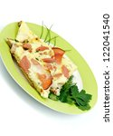 bacon omelet with spring onion  ...