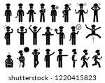 chef basic poses  feelings ... | Shutterstock .eps vector #1220415823