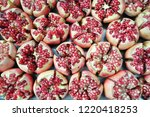 pomegranate is a kind of... | Shutterstock . vector #1220418253