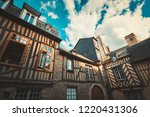 traditional half timbered... | Shutterstock . vector #1220431306