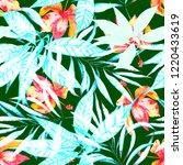 tropical seamless pattern....   Shutterstock . vector #1220433619