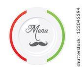 funny italian restaurant menu... | Shutterstock . vector #122043394