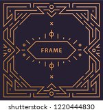 vector art deco linear frame... | Shutterstock .eps vector #1220444830