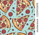 seamless pattern with slice of... | Shutterstock .eps vector #1220452693