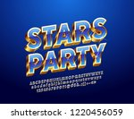 vector sign with text stars... | Shutterstock .eps vector #1220456059