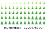 christmas tree animation sprite ... | Shutterstock .eps vector #1220475370