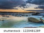 Cloudy Sunrise Seascape From...