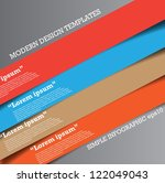 modern design template can be...   Shutterstock .eps vector #122049043